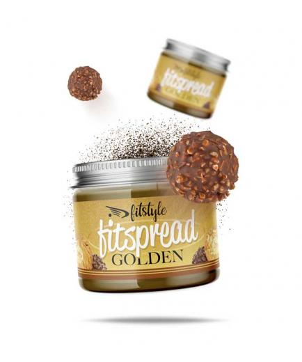 Fitstyle - Hazelnut and almond cream Fitspread Golden 200g - Bonbon