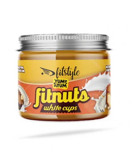 Fitstyle - Peanut Butter Fitnuts White Cups 200g - White Chocolate
