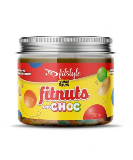Fitstyle - Peanut butter Fitnuts and Choc 200g - Chocolate with chocolate dragees