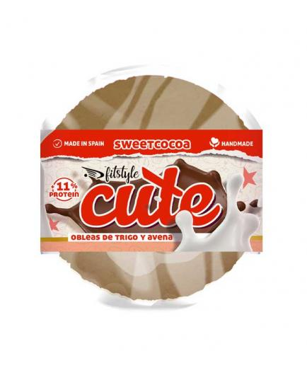 Fitstyle - Sweet Wheat and Oat Wafers Cute 50g - Sweet Cocoa