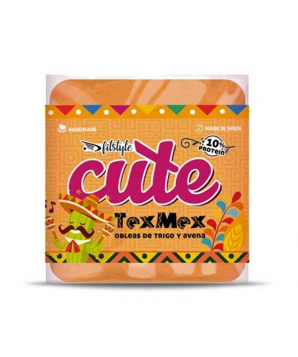 Fitstyle - Healthy Salted Wheat and Oat Wafers Cute 50g - Tex Mex