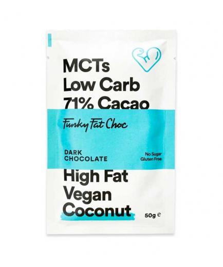 Funky Fat Foods - Dark Chocolate 71% Vegan Keto 50g - Coconut