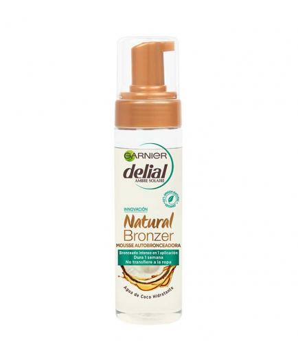 Garnier - Self-tanning mousse Delial with moisturizing coconut water