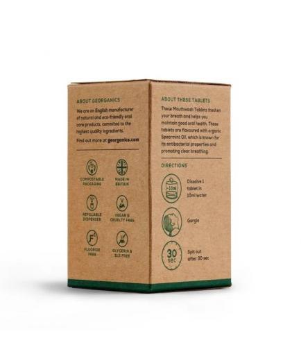 Georganics - Natural mouthwash in pills - Spearmint