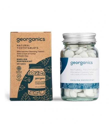Georganics - Natural toothpaste in pill - English Peppermint