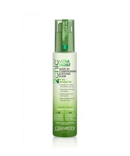 Giovanni - Ultra-Moist Leave in Conditioning and Styling Elixir 2Chic - Avocado and Olive Oil