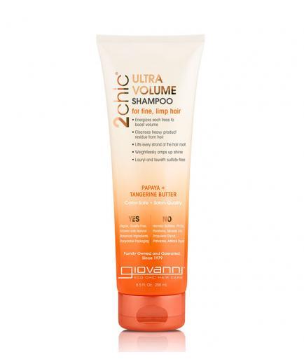 Giovanni - Ultra-Volume Shampoo 2Chic - Tangerine and Papaya Butter