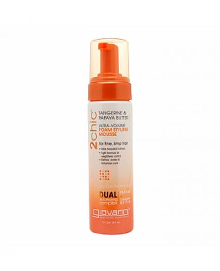 Giovanni - Ultra-Volume Foam Styling Mousse - 2Chic Tangerine and Papaya Butter