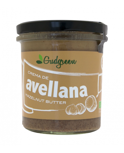Gudgreen - Crema de avellana 100% natural