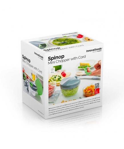 Innovagoods - Mini manual mincer with cord Spinop