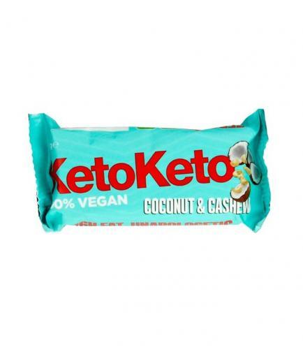 KetoKeto - Vegan Bar 50g - Cashew nuts and coconut
