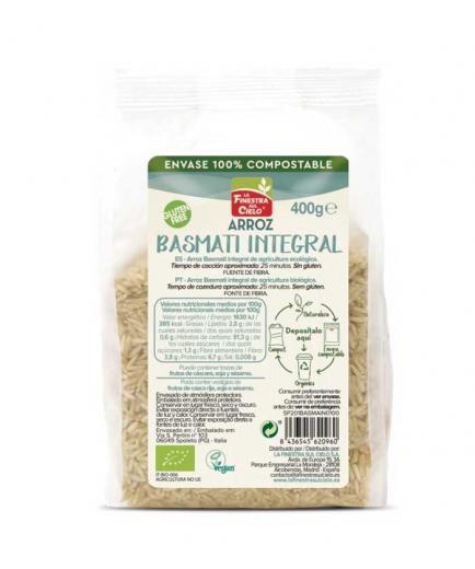 La Finestra sul Cielo - 100% Bio wholegrain basmati rice compostable container 400g
