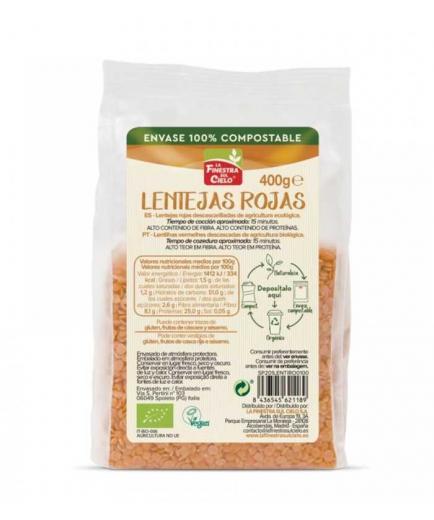 La Finestra sul Cielo - 100% Bio red lentils compostable container 400g