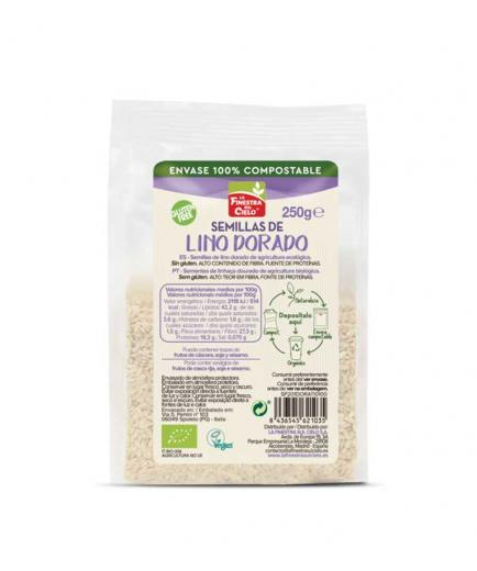 La Finestra sul Cielo - Organic golden flax seeds 100% compostable container 250g