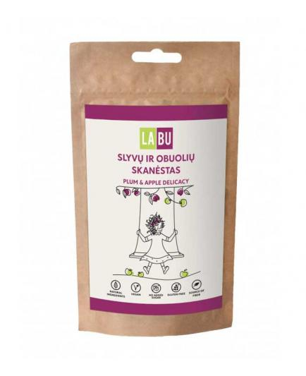 LABU - Strips of dried fruit puree 60g - Plum and apple