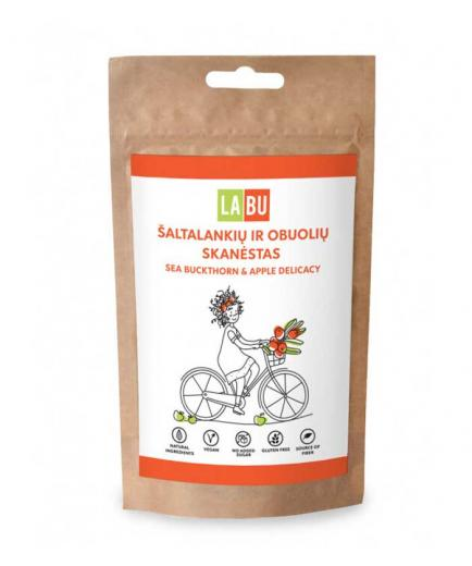 LABU - Strips of dried fruit puree 60g - Sea buckthorn and apple