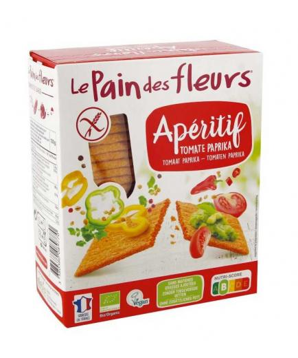 Le pain des fleurs - Organic crunchy bread with tomato and paprika