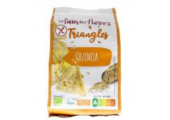 Le pain des fleurs - Corn and quinoa triangles