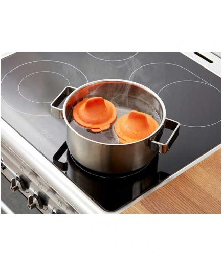 Lékué - Egg poacher Perfect poached eggs! - Orange