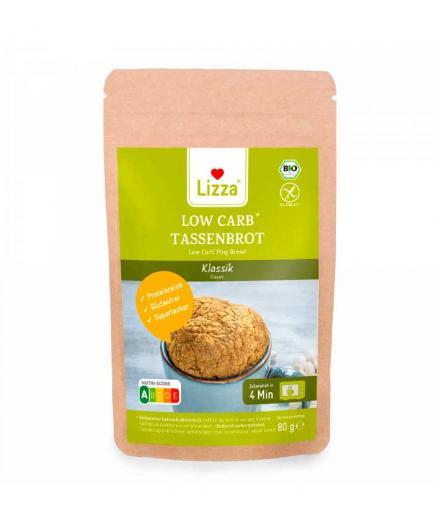 Lizza - Prepared to make bread in a cup vegan keto bio 80g - Classic