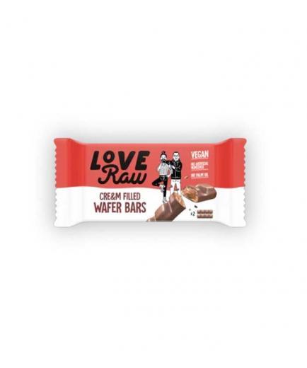 Love Raw - Vegan Cre&m wafer bars - Hazelnut and chocolate cream