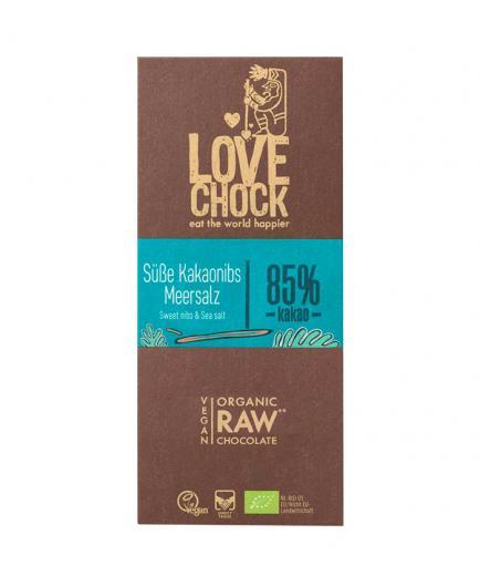 Lovechock – Ecological pure 85% cocoa chocolate - Sea salt