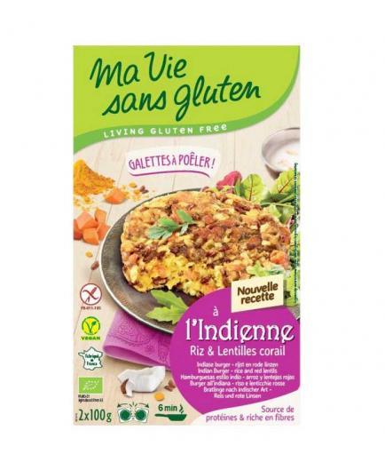 Ma Vie Sans Gluten - Bio vegan rice and red lentil burgers