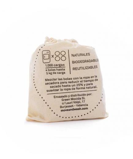 Move & Wash - 100% biodegradable natural drying balls 4 u.