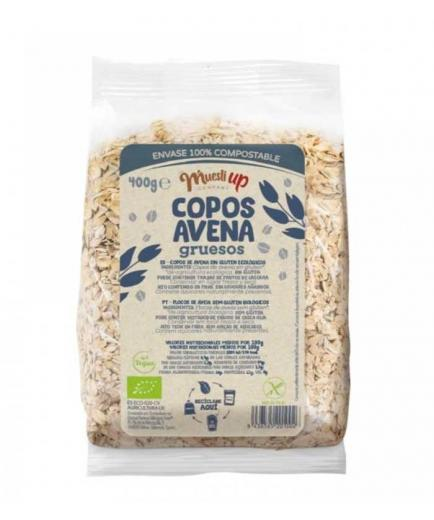 Muesli Up - Bio oat flakes 100% compostable container 400g - Thick