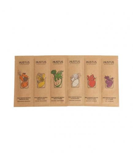 Mustus - Set of 6 facial masks limited edition
