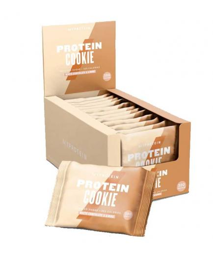 My Protein - Protein biscuit box 12x75g - White chocolate with almonds