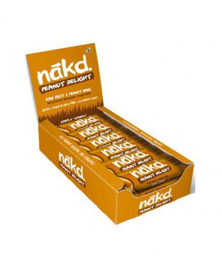 Nakd - Box of 18 vegan and gluten-free energy bars - Peanut