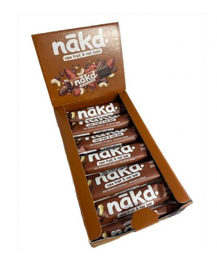 Nakd - Box of 18 vegan and gluten-free energy bars - Cocoa