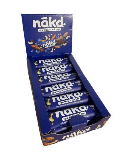 Nakd - Box of 18 Vegan and Gluten Free Energy Bars - Blueberry Muffin
