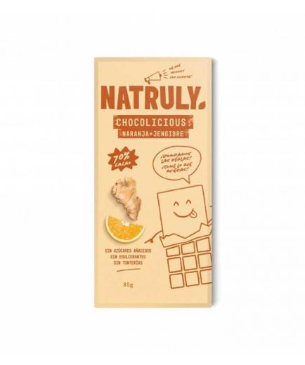 Natruly - Chocolate 72% Chocolicious 85g - Orange and ginger