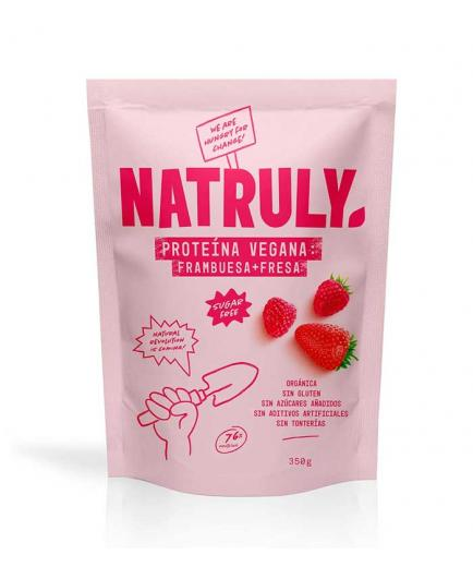Natruly - Natural vegan protein 350g - Raspberry and strawberry