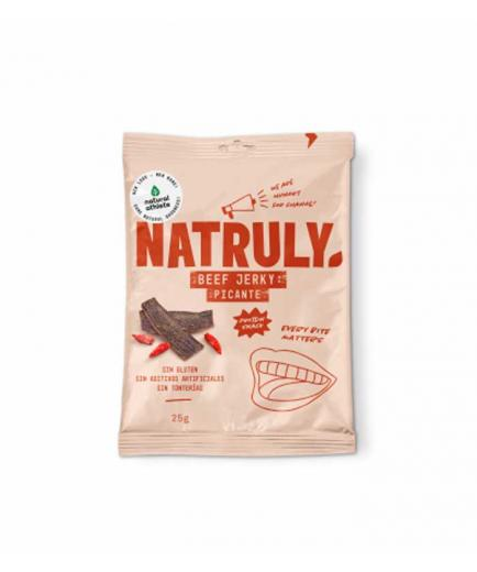 Natruly - Smoked dried meat snack Beef Jerky 25g - Spicy
