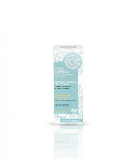 Natura Siberica - Facial serum for oily or mixed - skin pores and balance reduction