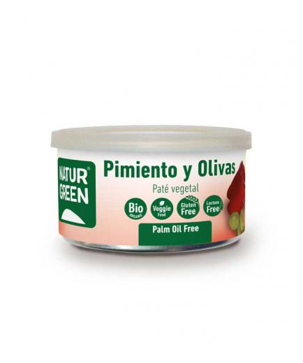 Naturgreen - Organic gluten-free vegetable pate of pepper and olives 125g