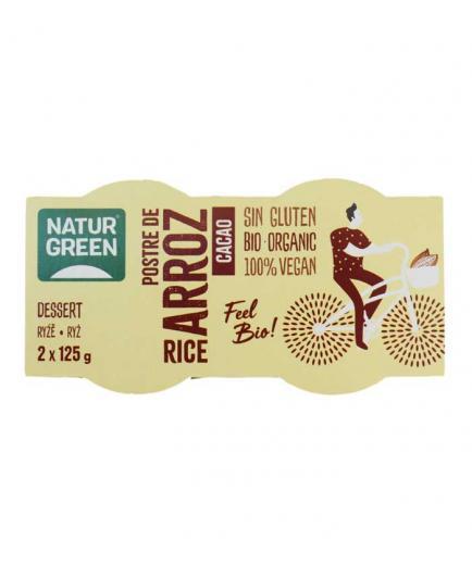 Naturgreen - Bio gluten-free rice dessert 2 x 125g - Cocoa