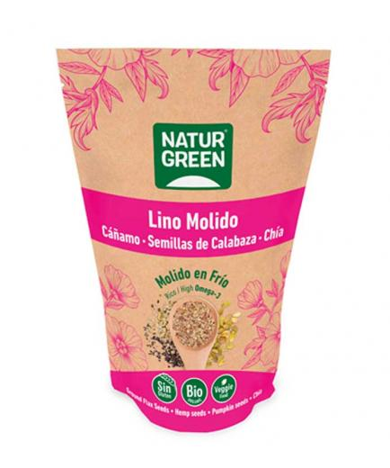 Naturgreen - Organic ground flax, hemp, pumpkin and chia seeds