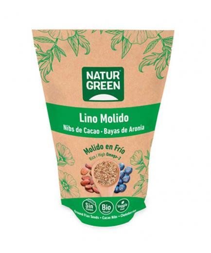 Naturgreen - Ground flax seeds, cocoa nibs and aronia berries Bio