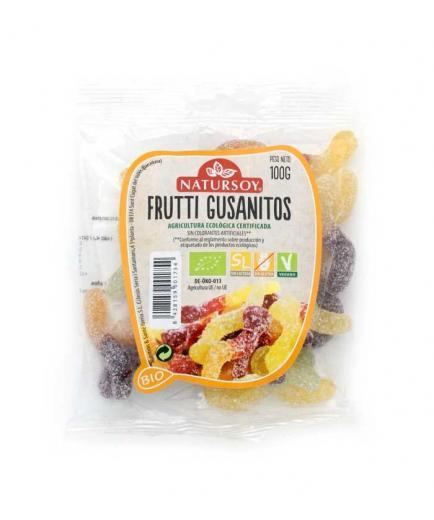 Natursoy - Gluten-free vegan gummies Frutti Gusanitos Bio 100g