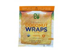 Nuco - Organic gluten-free coconut wraps 70g - Turmeric