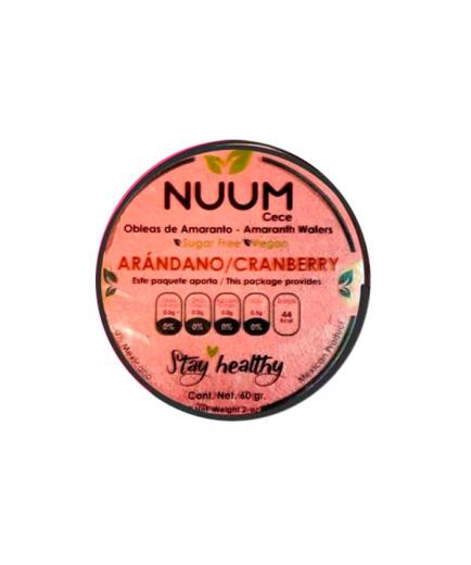 Nuum - Vegan Amaranth Wafers 60g - Blueberry