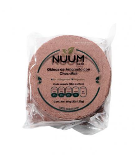 Nuum - Vegan Amaranth Wafers 60g - Choc-Mint