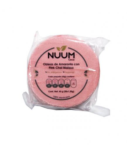 Nuum - Vegan Amaranth Wafers 60g - Pink Chai Malasa