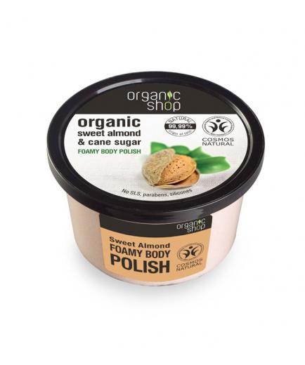 Organic Shop - Foaming Body Scrub - Organic sweet almond and sugar cane