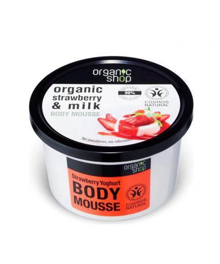 Organic Shop - Body Mousse - Organic strawberry and milk