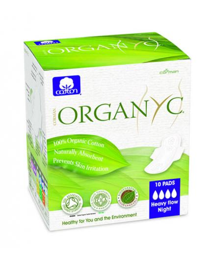 Organyc - Menstrual Pads with wings individually wrapped 100% Organic Cotton - Super
